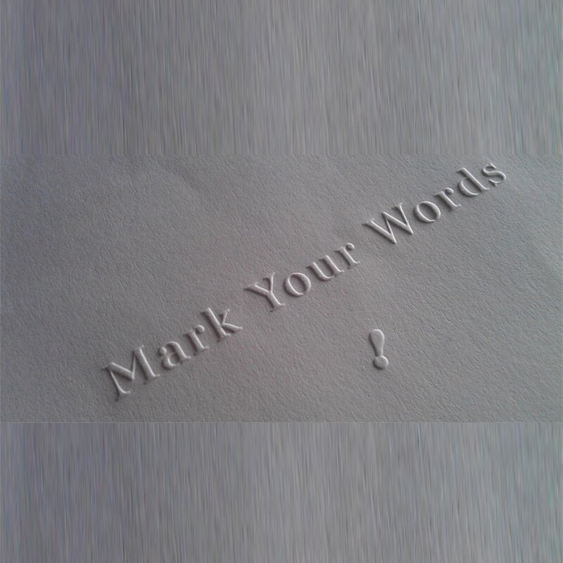 Embossing on printed paper