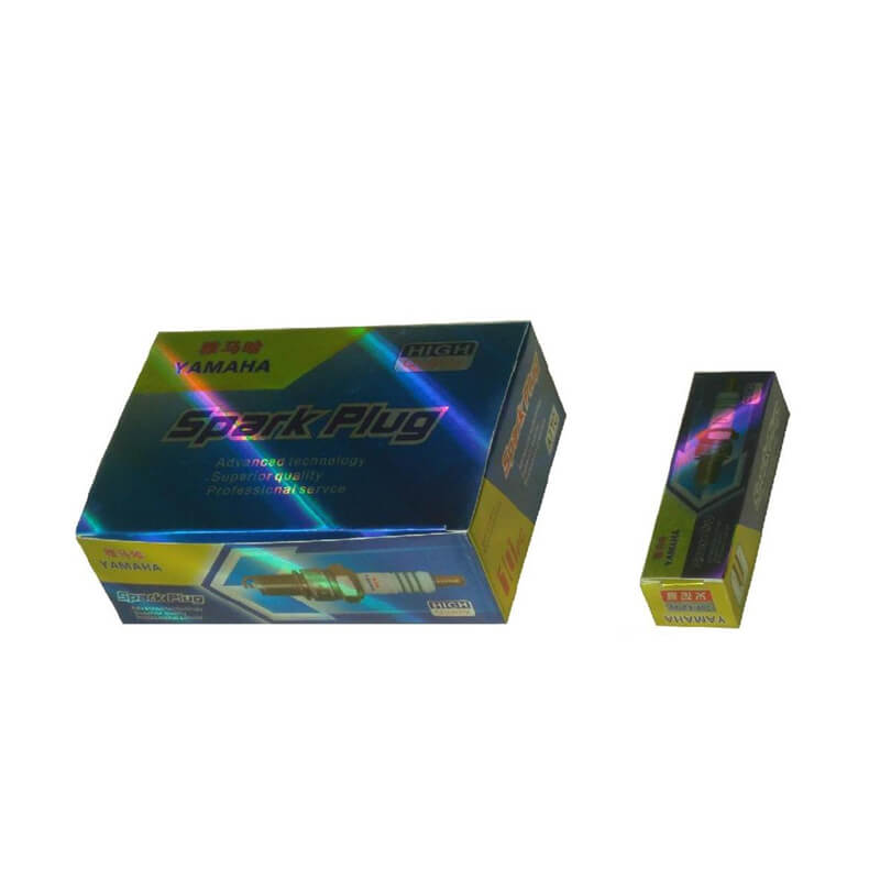 Laser foil paper box with foil staping