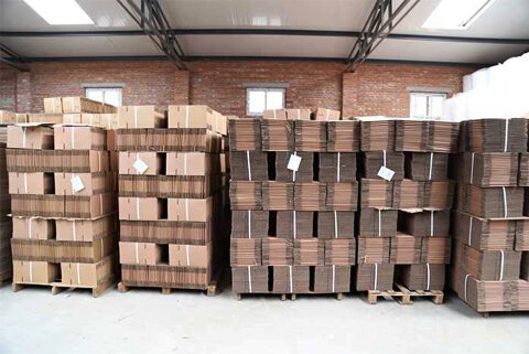 corrugated carton box packing stack