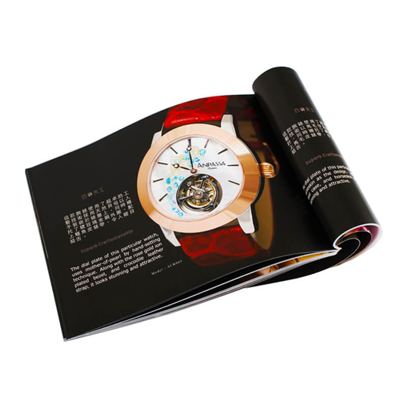 Art Paper Made Magazine For Watch Company