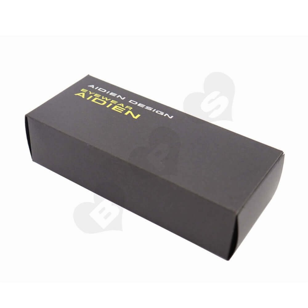 Black Paperboard Sunglass Packaging Box side view one