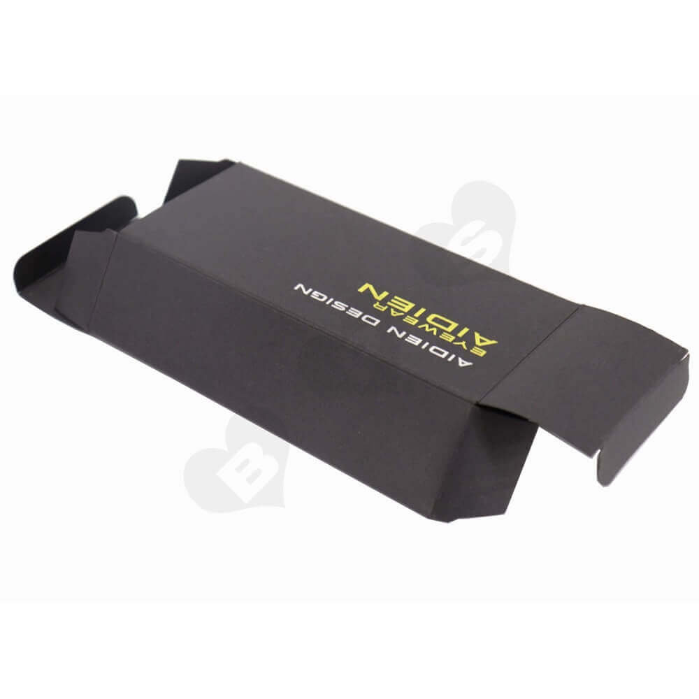 Black Paperboard Sunglass Packaging Box side view three