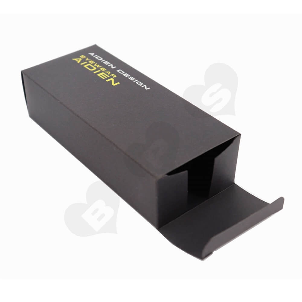 Black Paperboard Sunglass Packaging Box side view two