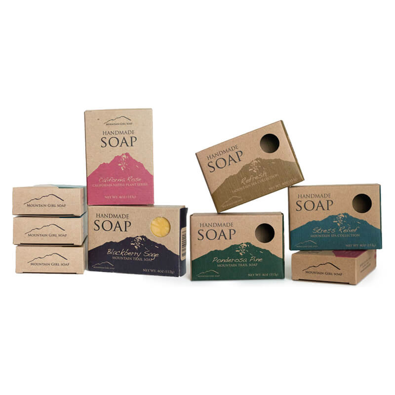 Brown Kraft Box With Flexo Printing For Soap
