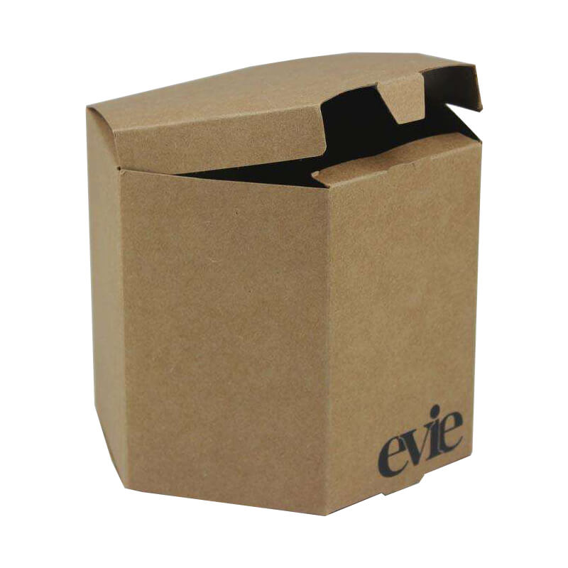Brown Kraft Hexagon Shape Paper Box