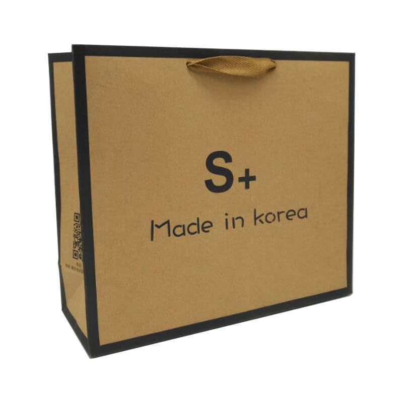 Brown Kraft Paper Bag With Flexo Printing