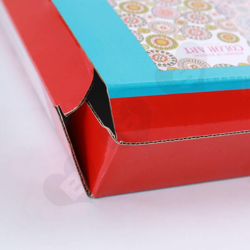 Color Printed Cardboard Box For Food side view three