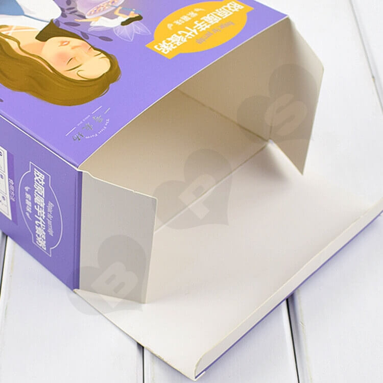 Color Printed Cardboard Box For Substitute Porridge side view four