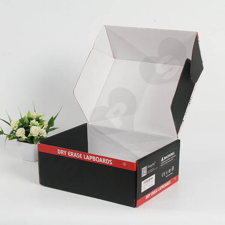 Color Printed Corrugated Paper Box For Stationery side view two