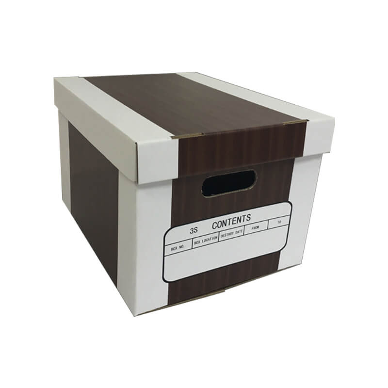 Corrugated Top and Bottom Shape File Storage Box