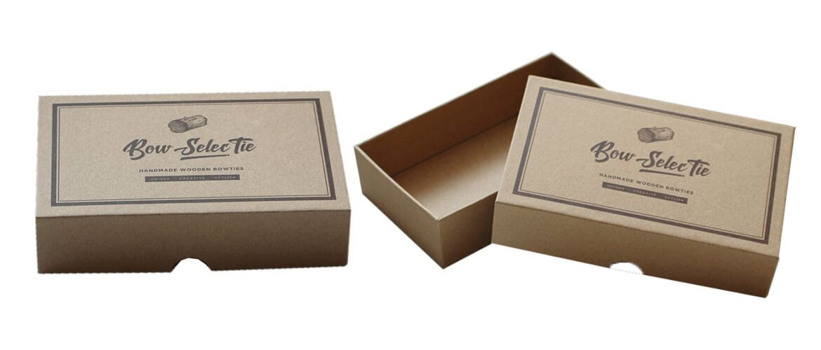 Corrugated board top and bottom packaging boxes
