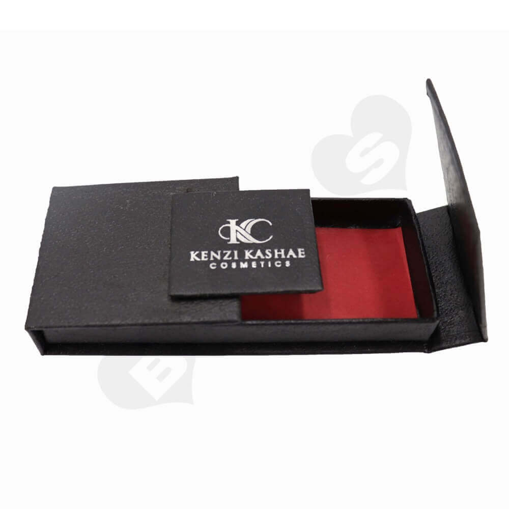 Cosmetic Packaging Boxes with Double sided Flap side view three