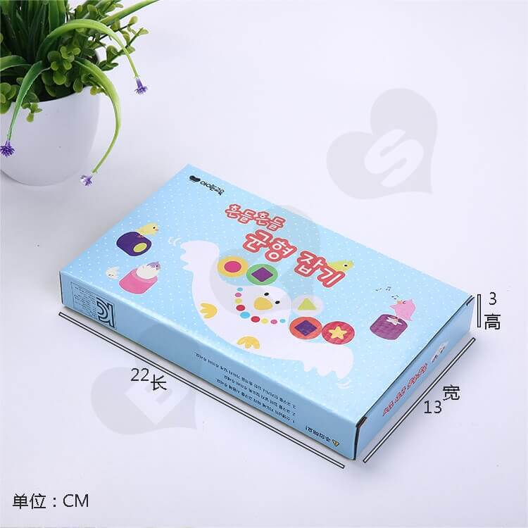 Custom Corrugated Paper Box For Building Block side view five