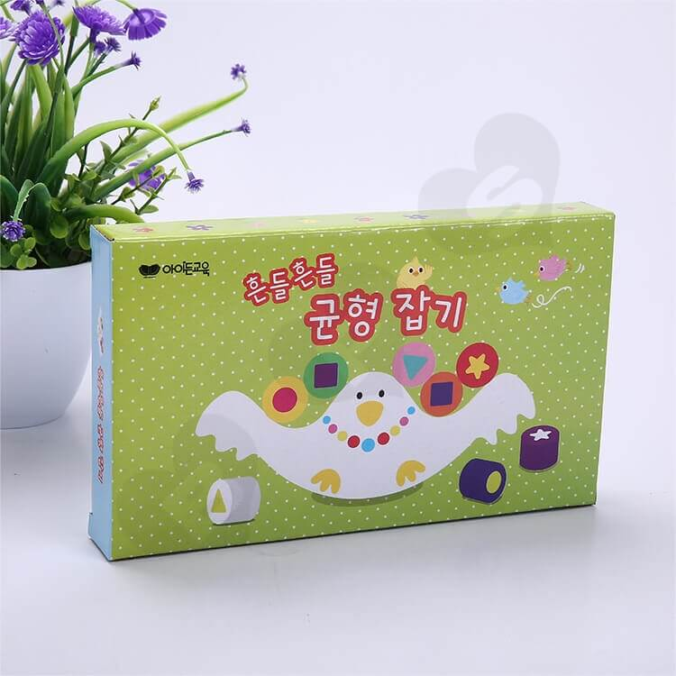 Custom Corrugated Paper Box For Building Block side view three