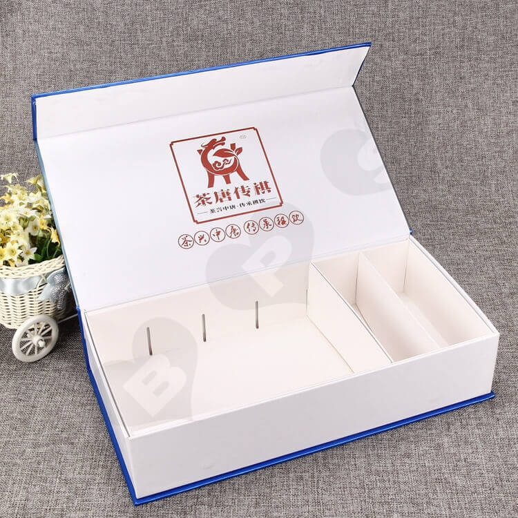 Custom Magnetic Closure Gift Box For Tea side view five