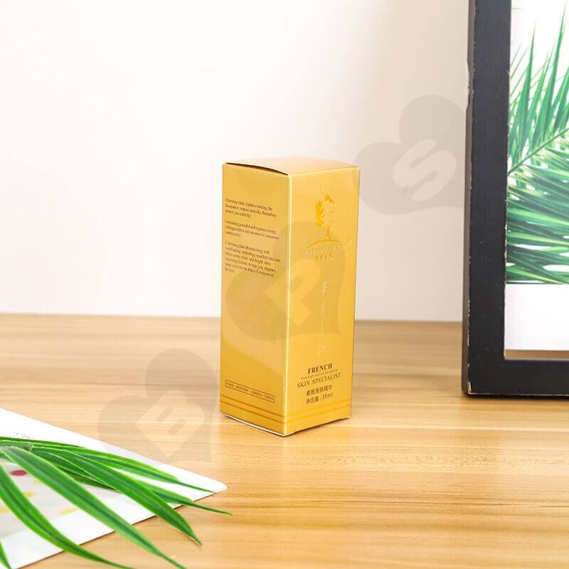 Custom Printed Cardboard Box For Skin Essence side view three