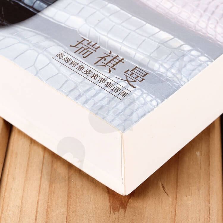 Custom Printed Drawer Box For Leather Belt side view five