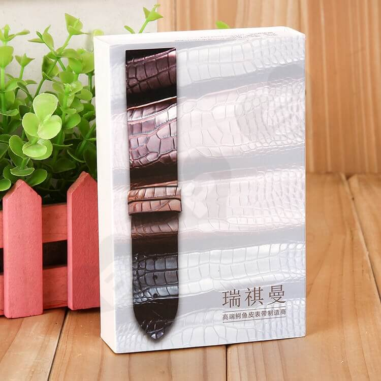 Custom Printed Drawer Box For Leather Belt side view four