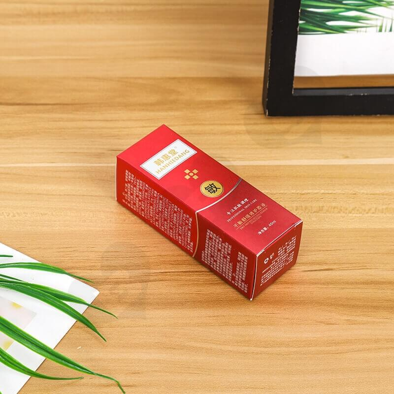 Custom Printed Folding Carton Box For Antiallergic Cream side view two