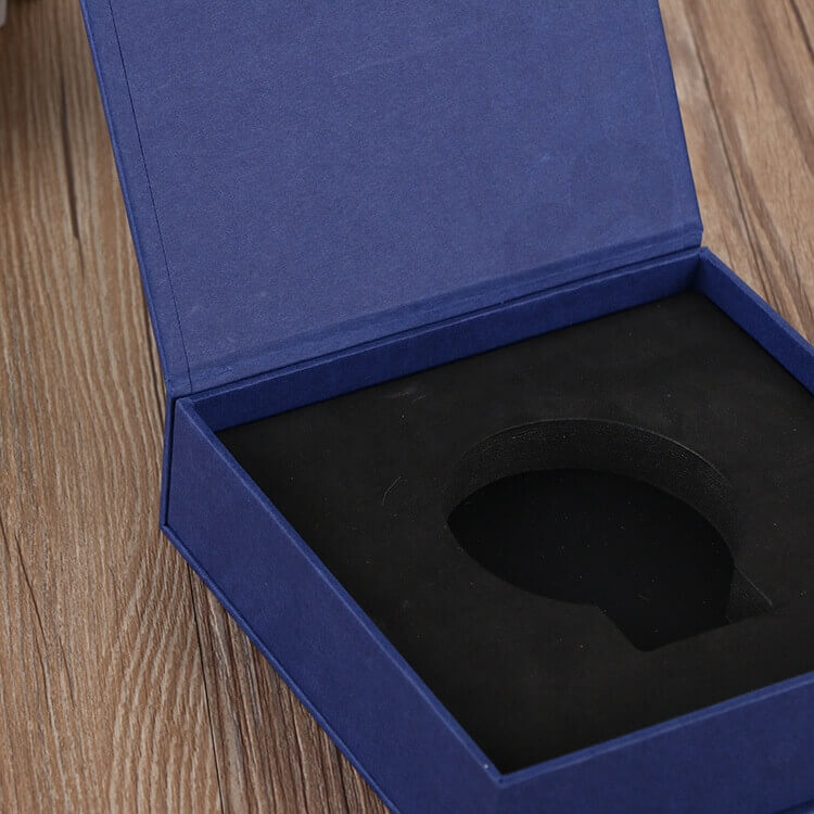 Custom Printed Magnetic Closure Gift Box For Medal side view five