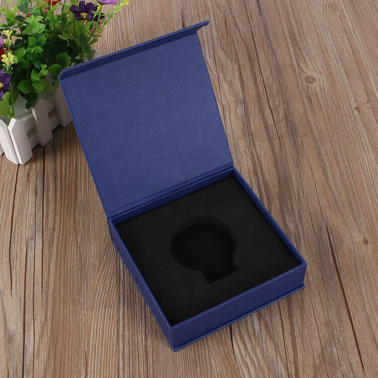Custom Printed Magnetic Closure Gift Box For Medal side view four