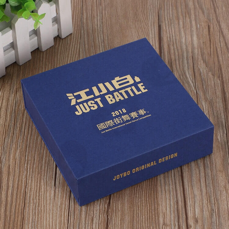 Custom Printed Magnetic Closure Gift Box For Medal side view one