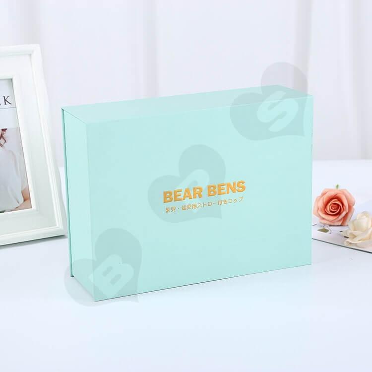 Custom Printing Book Shape Box For Baby Feeding Bottle side view seven