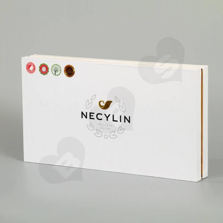 Custom Printing Cardboard Box For Skin Repair Kit Bottle side view one