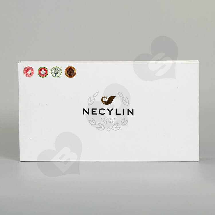 Custom Printing Cardboard Box For Skin Repair Kit Bottle side view three