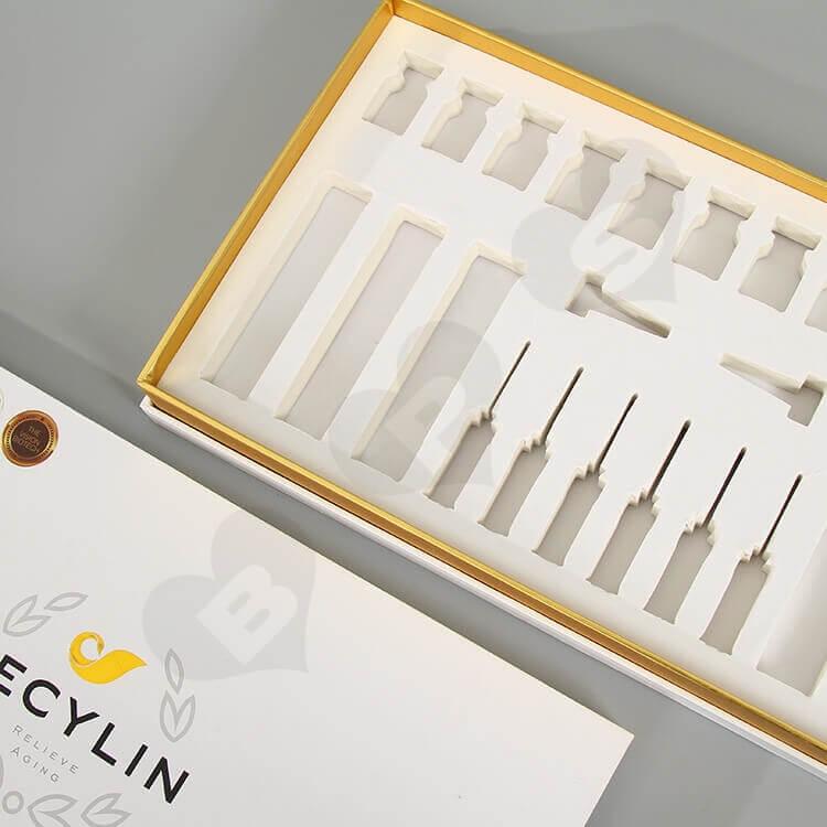 Custom Printing Cardboard Box For Skin Repair Kit Bottle side view two