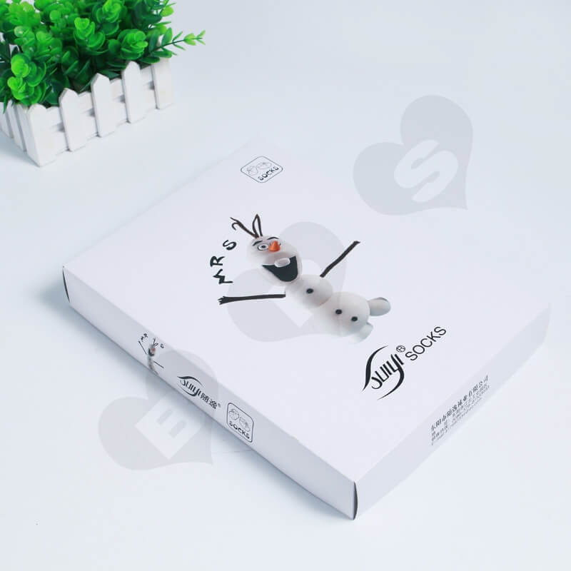 Custom Printing Cardboard Box For Socks side view four