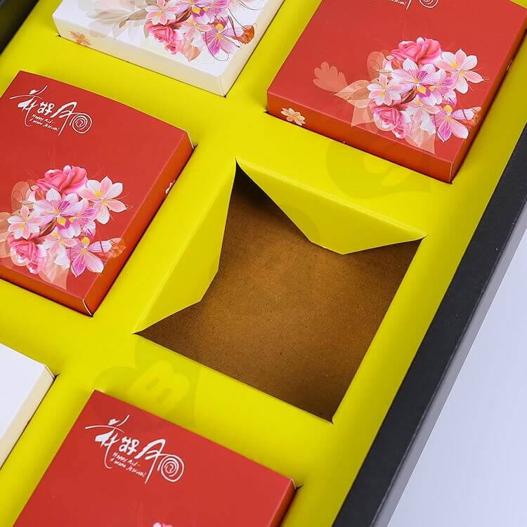 Custom Printing Cardboard Gift Box With Paper Bag For Cakes side view seven