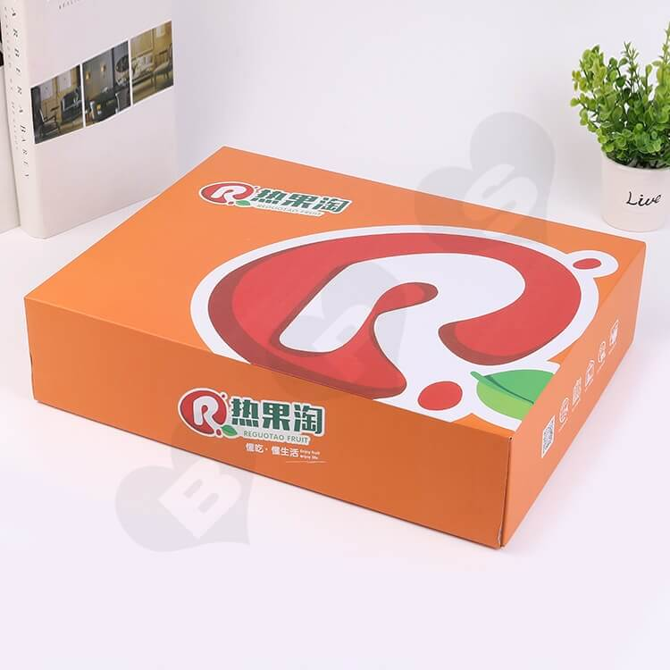 Custom Printing Corrugated Fruit Shipping Box side view five