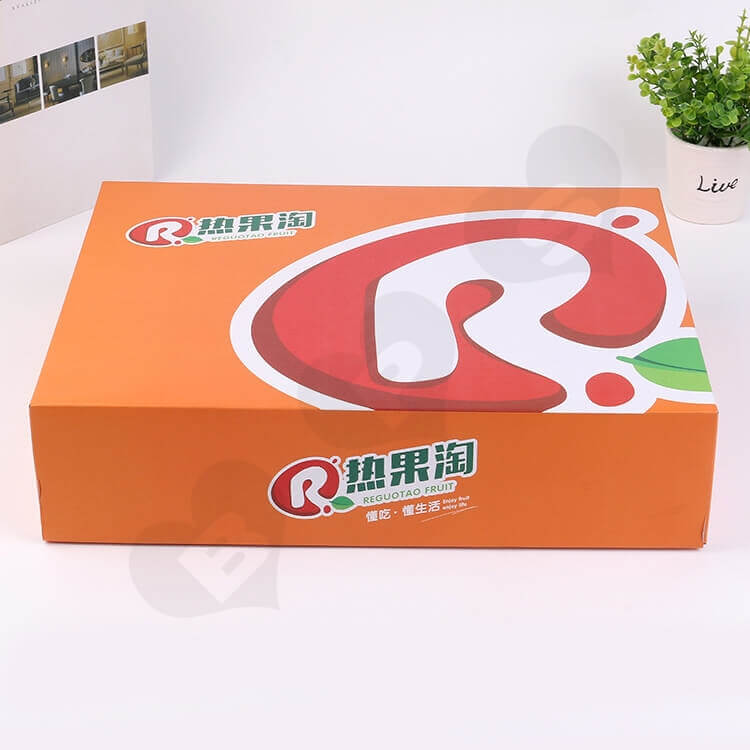 Custom Printing Corrugated Fruit Shipping Box side view two