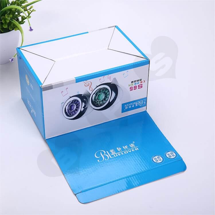 Custom Printing Corrugated Paper Box For Loudspeaker side view four