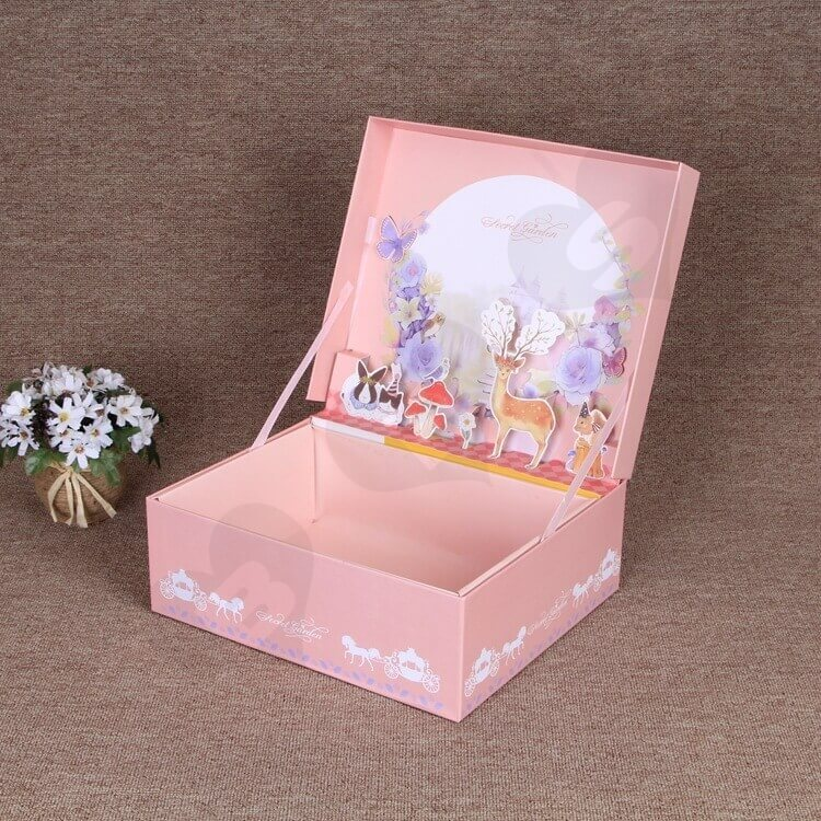 Custom Printing Special Box For Christmas Gift Books side view one
