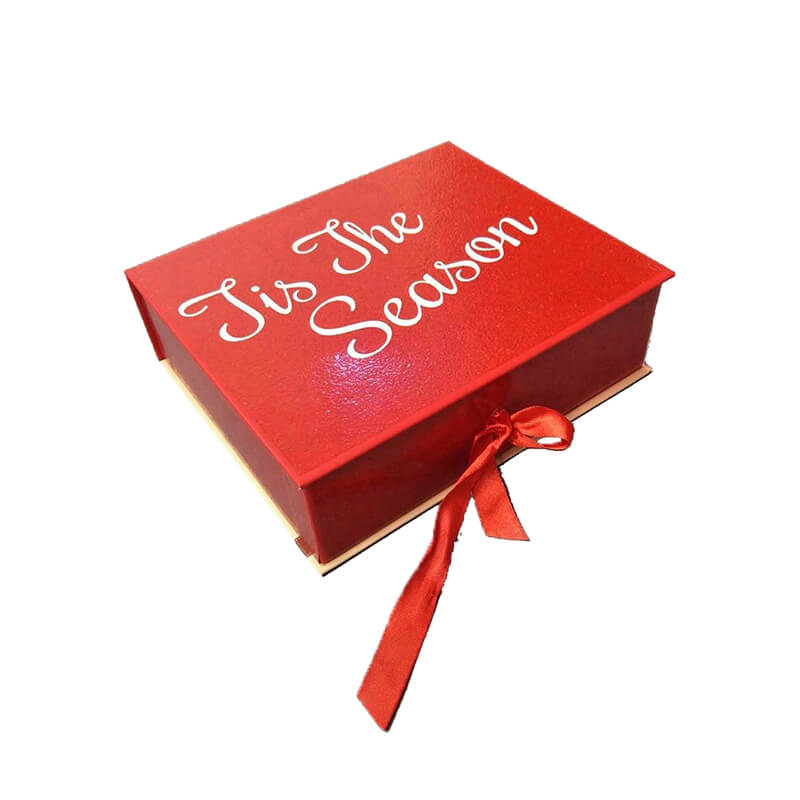Custom Ribbon Closure Gift Box Made From HDF Board