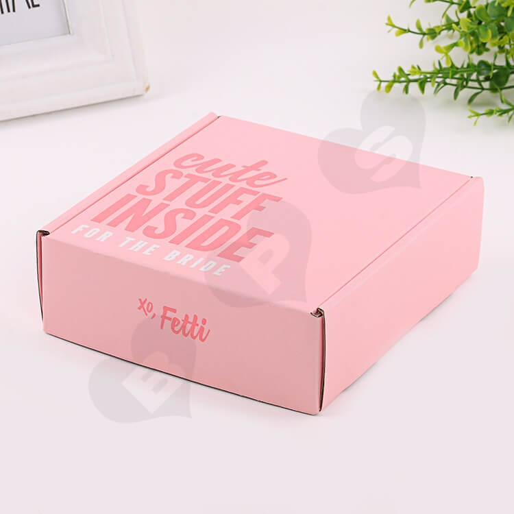 Double Side Printing Corrugated Box For Party Gift side view four