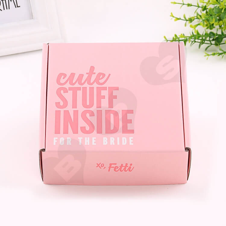 Double Side Printing Corrugated Box For Party Gift side view two