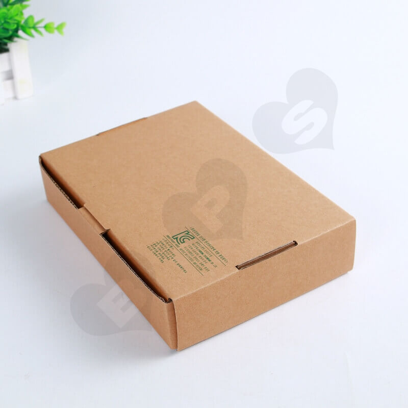 Flexo Printing Kraft Mailer Box For Electronic Products side view three