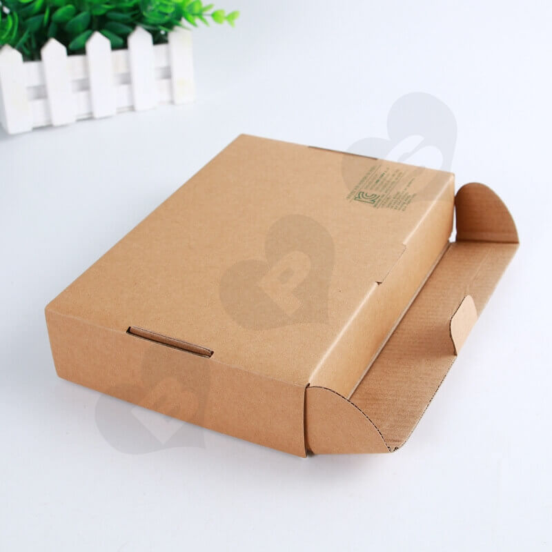 Flexo Printing Kraft Mailer Box For Electronic Products side view two
