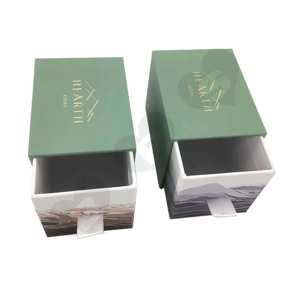 Golden Hot Foil Stamped Drawer Box side view 9