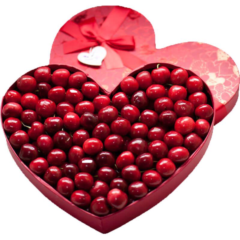 Heart Shape Wedding Gift Box For Cherry