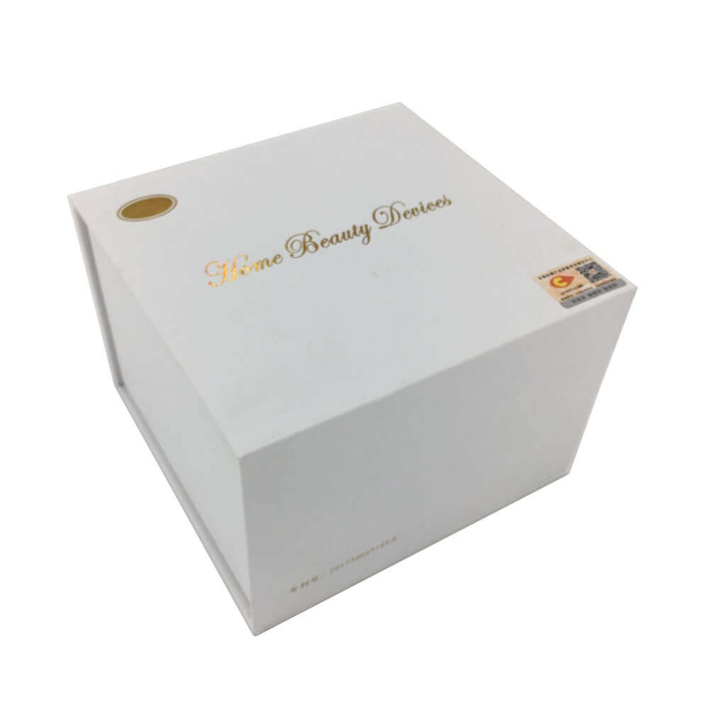 Home Beauty Device Packaging Box With EVA Foam Insert sideview one