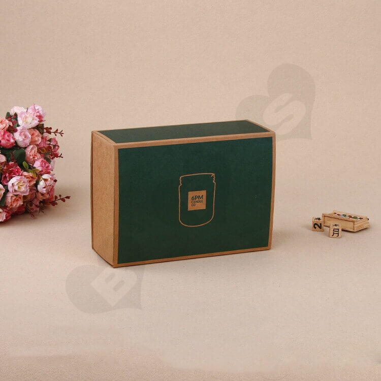 Kraft Mailer Box With Sleeve For Candle side view five