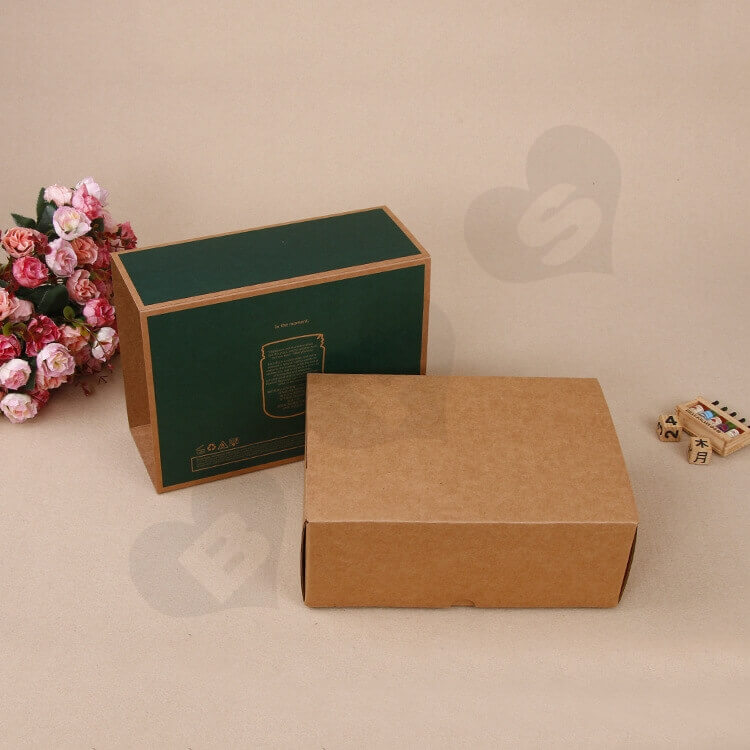 Kraft Mailer Box With Sleeve For Candle side view three