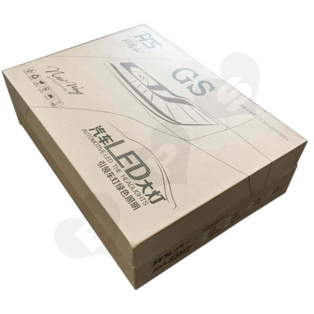 LED Bulb Rigid Gift Boxes Sideview Six