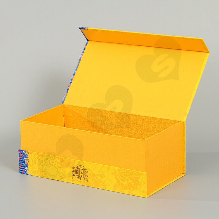Luxury Double Side Printing Cardboard Box For Liquor side view five