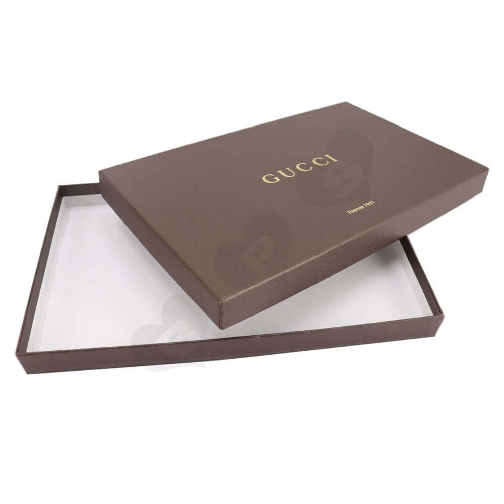 Luxury Gift Box With Gold Foil Stamping For Scarf Side View Four