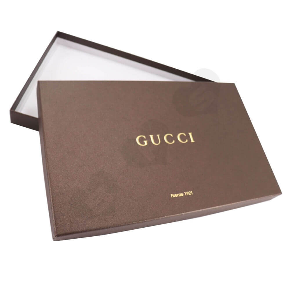 Luxury Gift Box With Gold Foil Stamping For Scarf Side View One